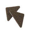 Waxman 8-Pack Brown Square Felt Pads