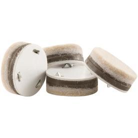 Waxman 4-Pack Tan Round Felt Pads