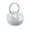 Waxman 1-1/4-in dia White Stopper Sink Strainer