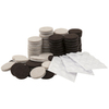Waxman 108-Pack Brown/Tan/Clear Round Felt Pads