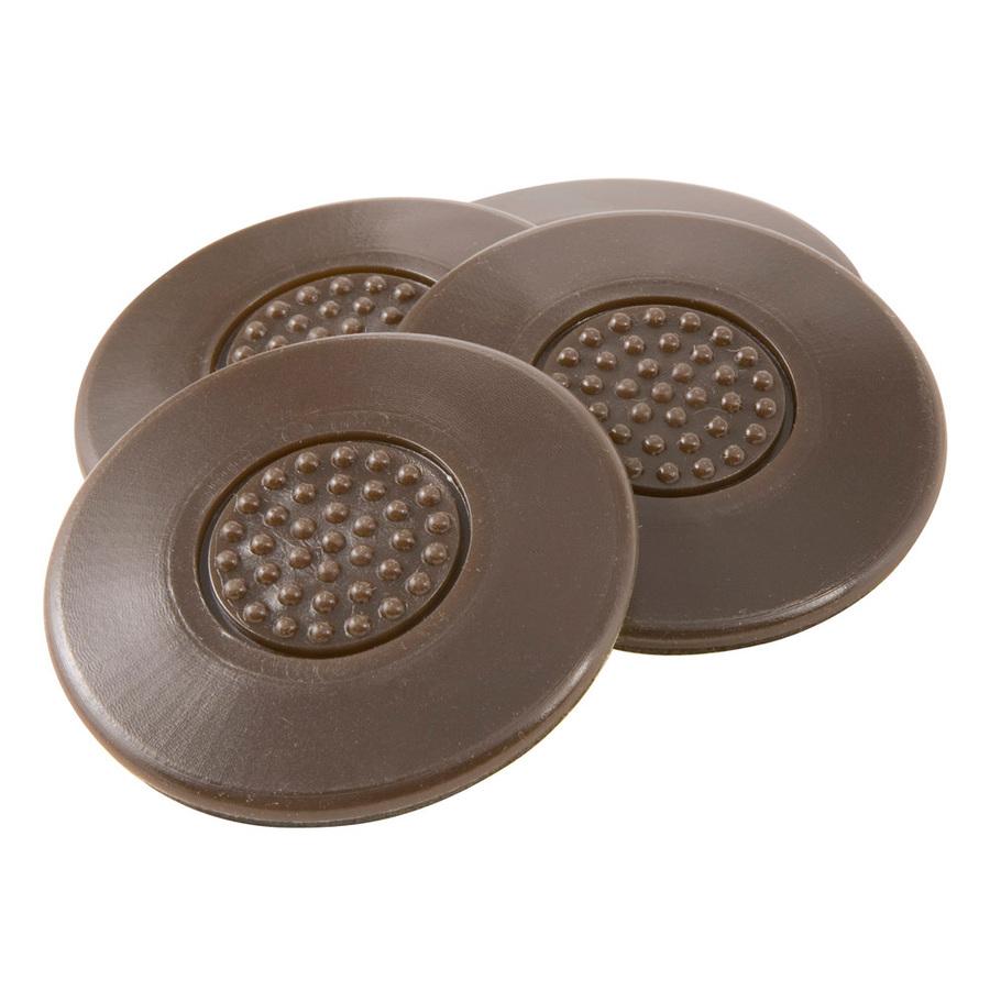 shop waxman 4 pack 2 1 2 in heavy duty brown furniture