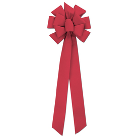 Holiday Living Red Velvet Super Decorative Bow