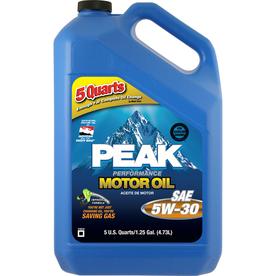 PEAK 5-Quart Motor Oil 5W30