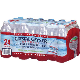 CRYSTAL GEYSER ALPINE 24-Pack 16.9-fl oz Spring Water