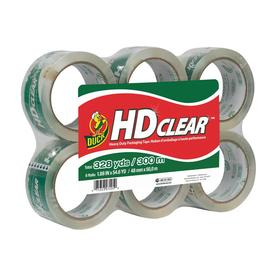 Duck 6 1.88-in x 163.8-ft Clear Packing Tape