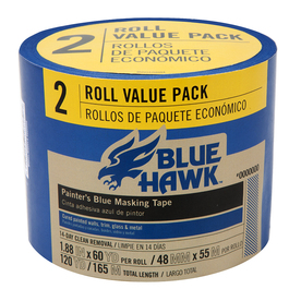 Blue Hawk 1.88-in x 180-ft Multi-Surface Painter's Tape