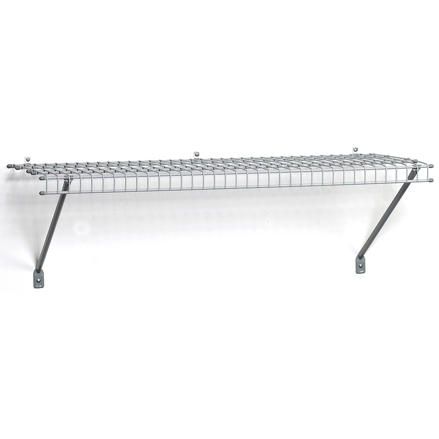 Shop ClosetMaid 4-ft L x 16-in D Gray Wire Shelf at Lowes.com