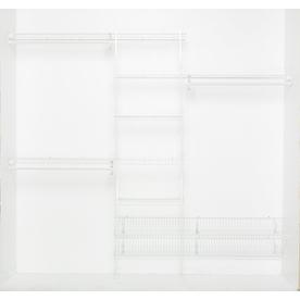 ClosetMaid 8-ft x 12-in White Fixed Mount Shelving Kit