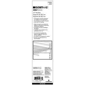 ClosetMaid White Bracket (Common: 1-in x 12-in x .625-in; Actual: 1-in x 12-in x .625-in)
