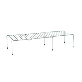 Style Selections Steel Chrome Expanding Large Helper Shelf