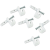 ClosetMaid 7-Pack White Rectangular Shelf Wall Clips