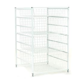 ClosetMaid 17.75-in W x 29.318-in H x 21-in D White Steel Basket