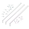 ClosetMaid 3-Pack-in White Rectangle Shelving Hardware