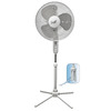 Comfort Zone 16-in 3-Speed Oscillating Stand Fan