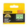 Stanley 1000-Pack 1/4&#034; Light-Duty Narrow Crown Staples