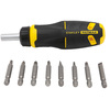 Stanley 9-Piece 6-in Ratcheting Multi-Bit Screwdriver