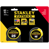 Stanley 25-ft High-Impact ABS Case with Durable Rubber Mylar Blade Coating Long Tape