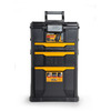 Stanley 3-Drawer 19.25-in Black Plastic Tool Cabinet with Wheels