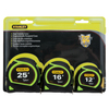 Stanley High Visibility Green 3-Pack  Tape Measure Set