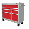 PORTER-CABLE 39.6-in x 41-in 7-Drawer Ball-Bearing Steel Tool Cabinet (Gray)