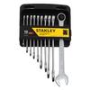 Stanley 10-Piece Standard Matte Standard (SAE) Wrench Set