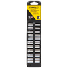 Stanley 10-Piece Standard (SAE) 1/4-in Drive 12-Point Socket Set with Case