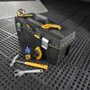 Stanley 12-in Black Plastic Lockable Tool Box