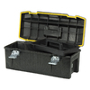 Stanley 12-in Black Plastic Lockable Tool Box
