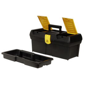 Stanley 8.3-in Yellow Plastic Lockable Tool Box