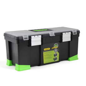 Stanley 9.9-in Black Plastic Lockable Tool Box