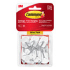 Command 12-Pack Plastic Base with Metal Wire Adhesive Hooks