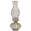 Lamplight 13.25-in H Clear Glass Outdoor Decorative Lantern