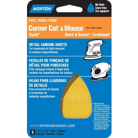 Norton 5-Pack 180-Grit Detail Sheet Sandpaper