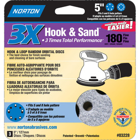 Norton 3-Pack 180-Grit Disc Sandpaper