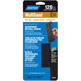 Norton 4.187-in W x 11.25-in L 120-Grit Industrial Sanding Screen Sandpaper