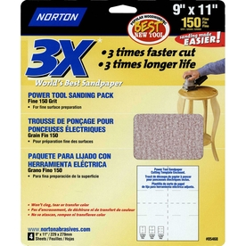 Norton 4-Pack 150-Grit 9.7-in W x 11.7-in L Sheet Sandpaper
