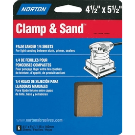 Norton 6-Pack 150-Grit 5.3-in W x 6.5-in L Sheet Sandpaper