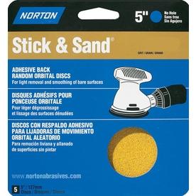Norton 5-Pack 120-Grit 5.8-in W x 6.2-in L Disc Sandpaper