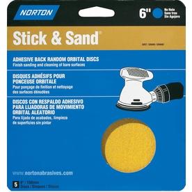 Norton 5-Pack 80-Grit 6.8-in W x 7.1-in L Disc Sandpaper