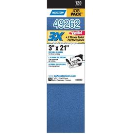 Norton 5-Pack 120-Grit Belt Sandpaper
