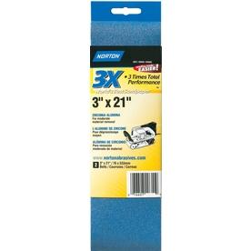 Norton 2-Pack 80-Grit 3.1-in W x 11.5-in L Belt Sandpaper