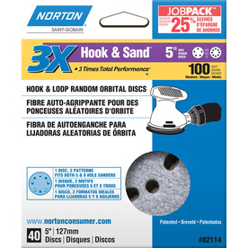 Norton 40-Pack 100-Grit Disc Sandpaper