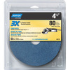 Norton 3-Pack 80-Grit 5.25-in W x 6-in L Disc Sandpaper