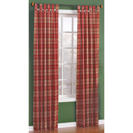 Style Selections 84-in L Brick Twill Plaid Curtain Panel