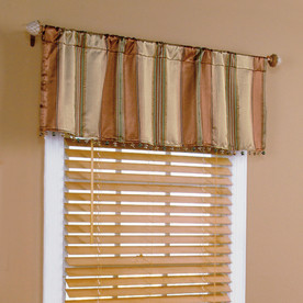 Style Selections 17-in L Cinnamon Staccato Stripe Tailored Valance