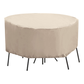 Shop elemental taupe bistro set cover at lowescom for Elemental outdoor furniture covers
