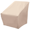elemental Taupe Conversation Chair Cover
