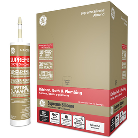 GE Silicone II 120 oz Almond Silicone Kitchen and Bathroom Caulk