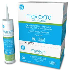 GE Sealants Max Extra 121.2-oz Clear Paintable Latex Window and Door Caulk