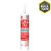 GE 9.8 oz White Silicone Kitchen and Bathroom Caulk